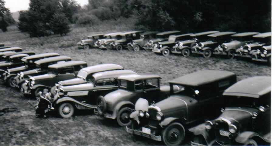 Cars Parked at 1934 Seidemann Reunion
