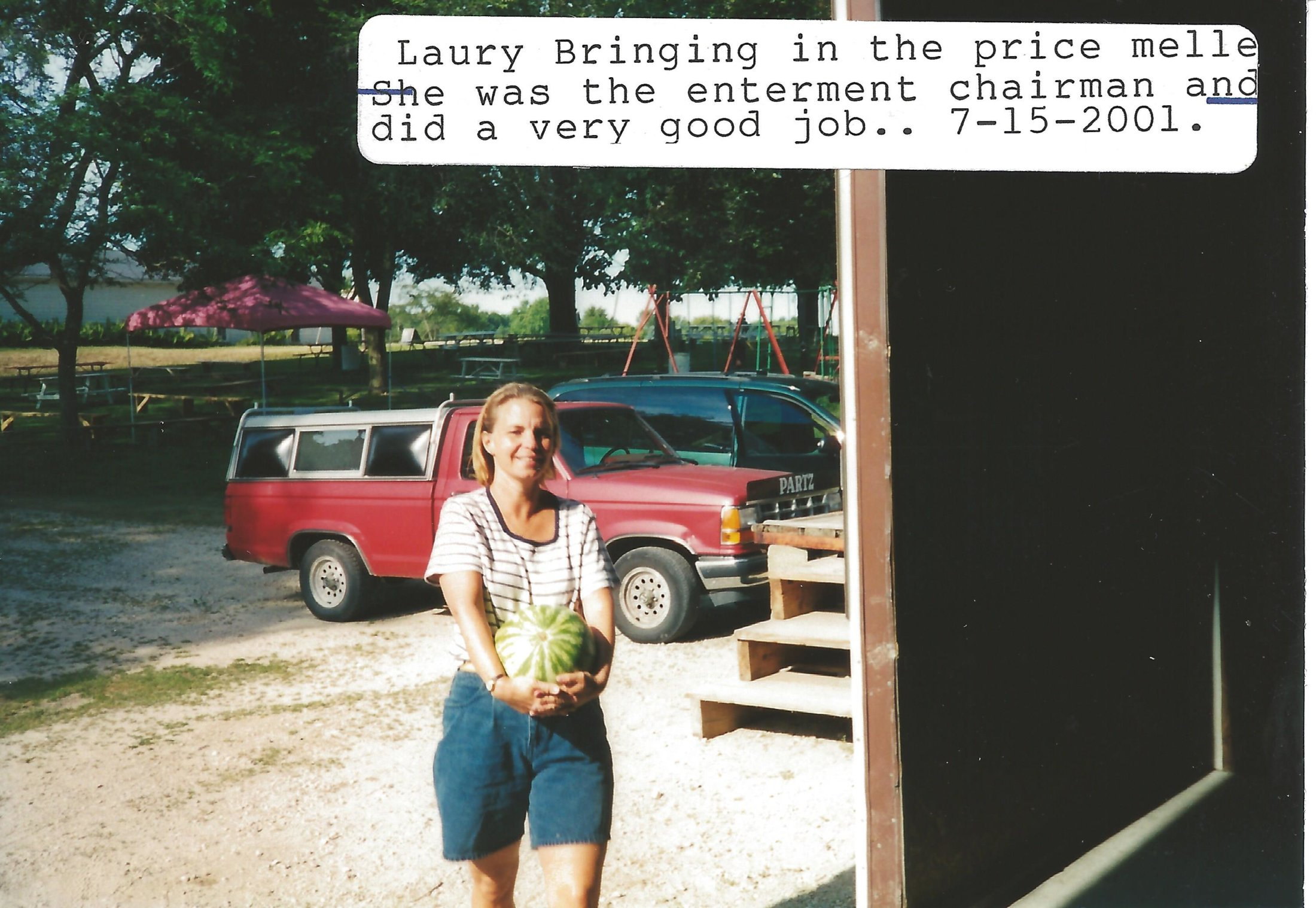 Laury - Entertainment Committee - Bringing In the Watermelon