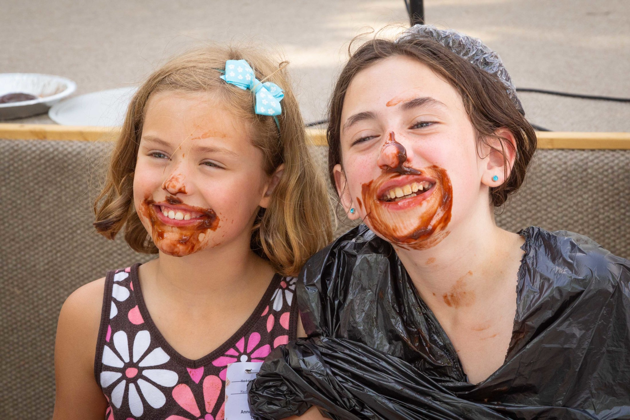 Lydia & Naomi After The Pie Eating Contest