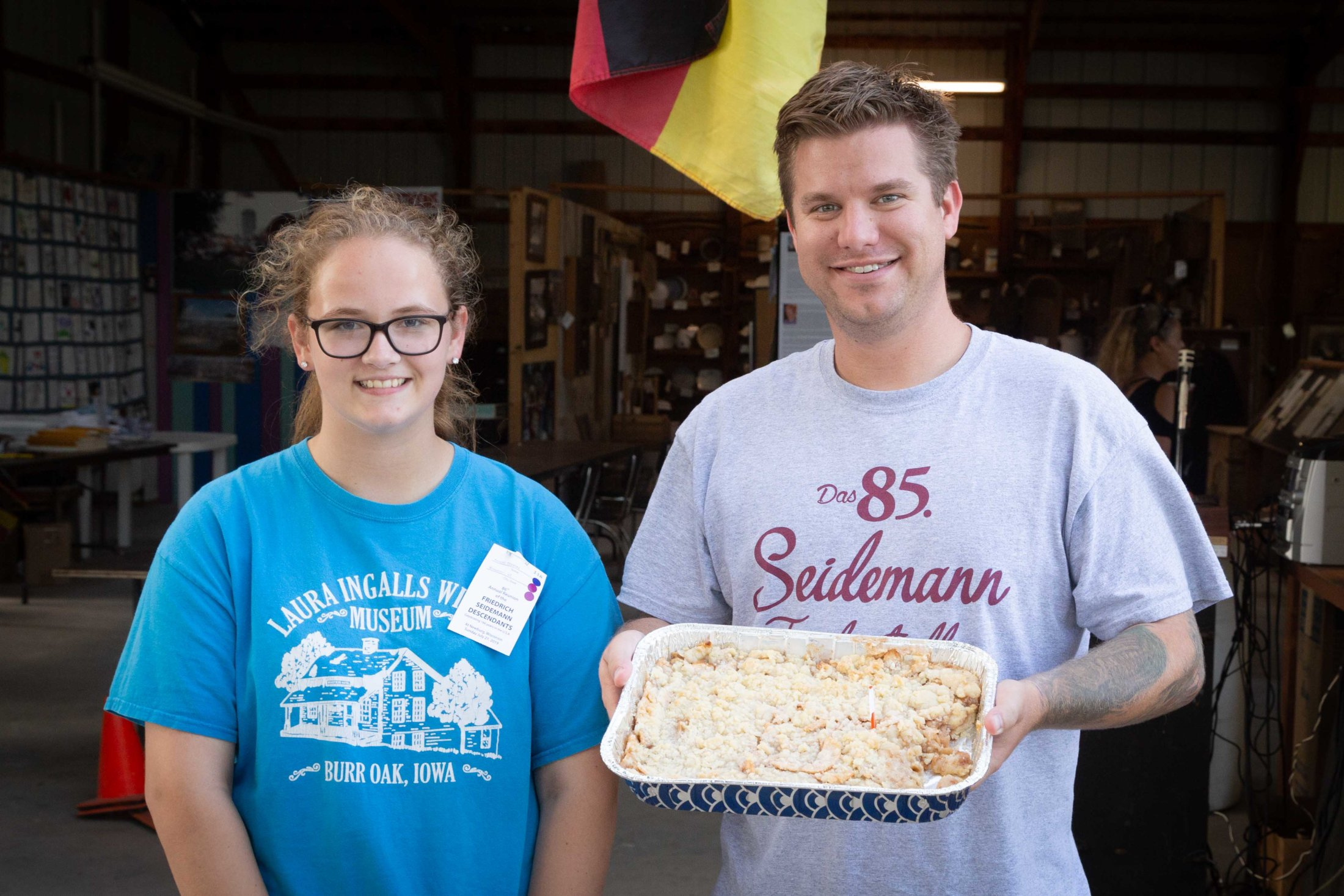 """Kendra Place 3rd In The 25 And Under Age Group With Her Awesome """"Apple Kuchen"""". Chris Bought Her Kuchen And Was Very Pleased With His purchase."""