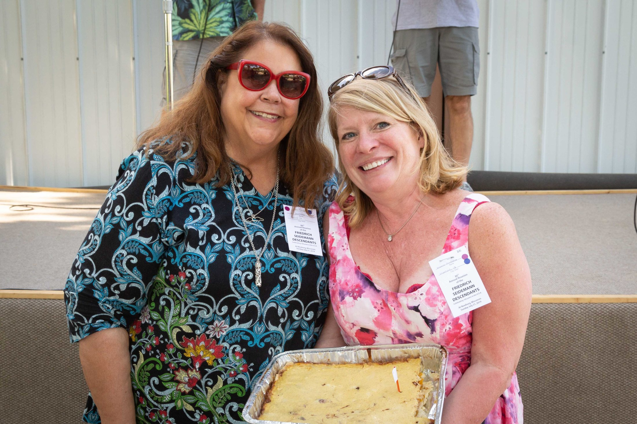 """Lou Baked This Delicious 3rd Place """"Peaches and Cream"""" Kuchen. Bonnie Bought It. Thanks Bonnie."""