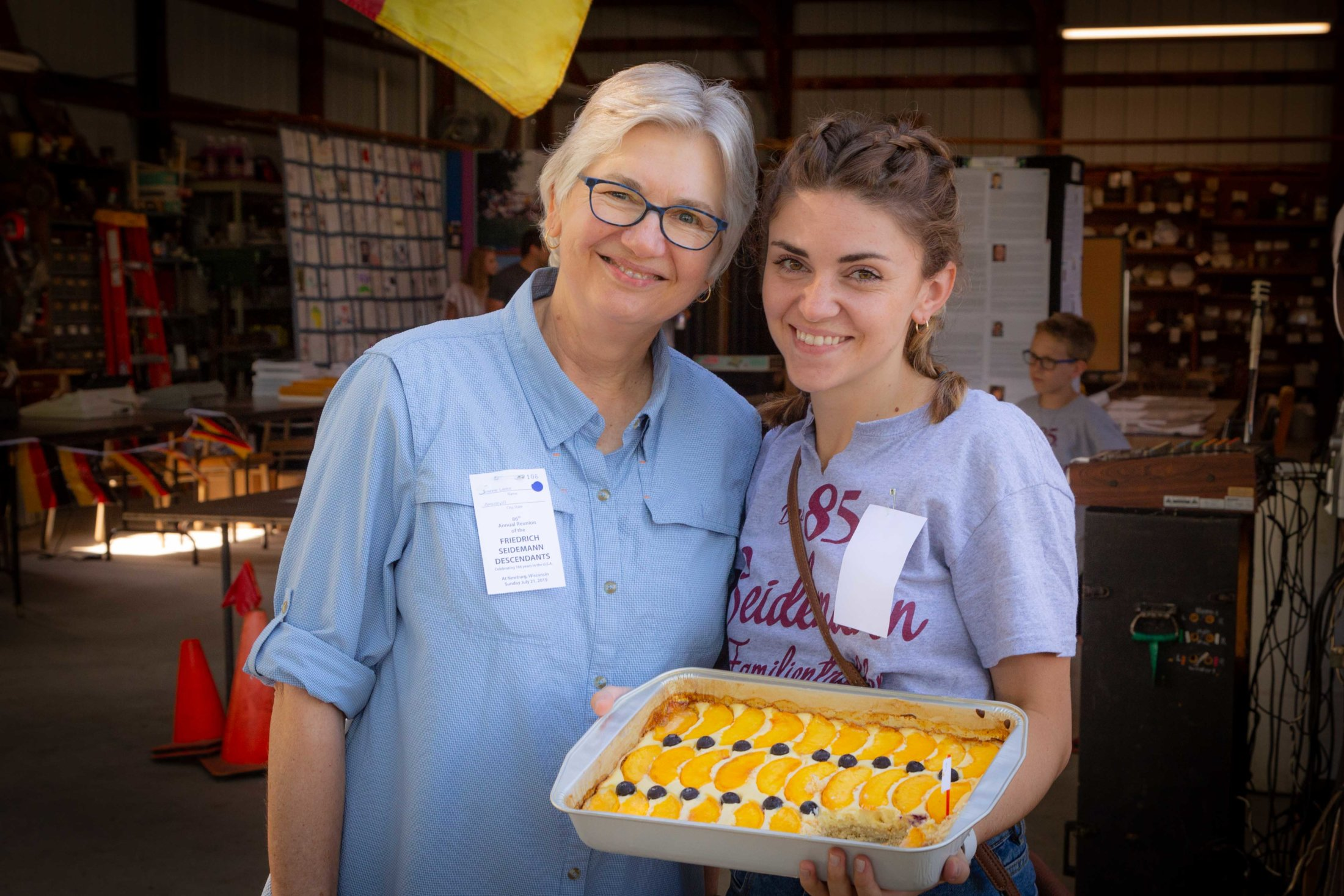 """Joanne Baked The 1st Place """"Peaches And Cream Kuchen"""" In The Over 25 Age Group., Emily Bought This Beautiful Creation."""