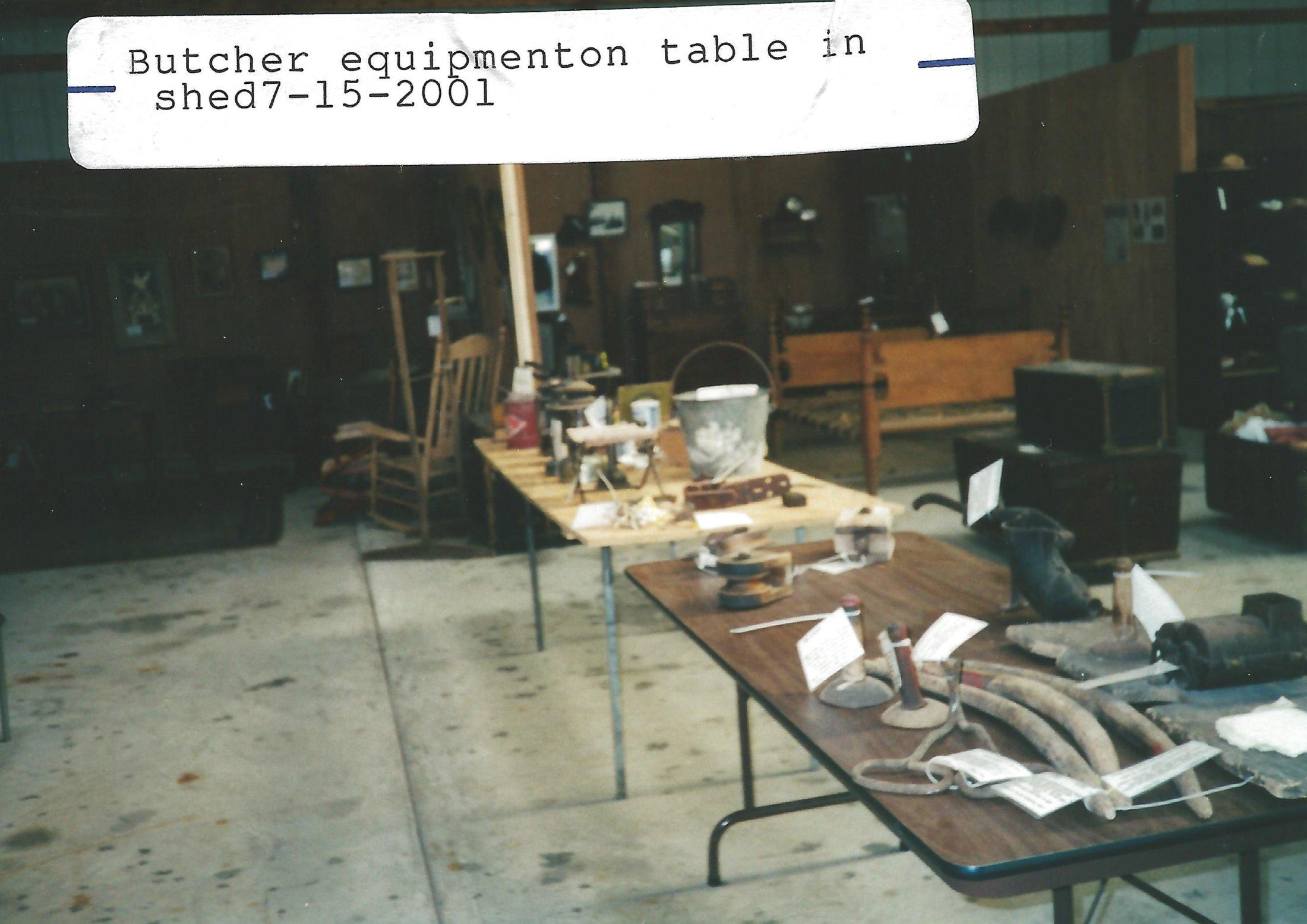 Butcher Equipment Display