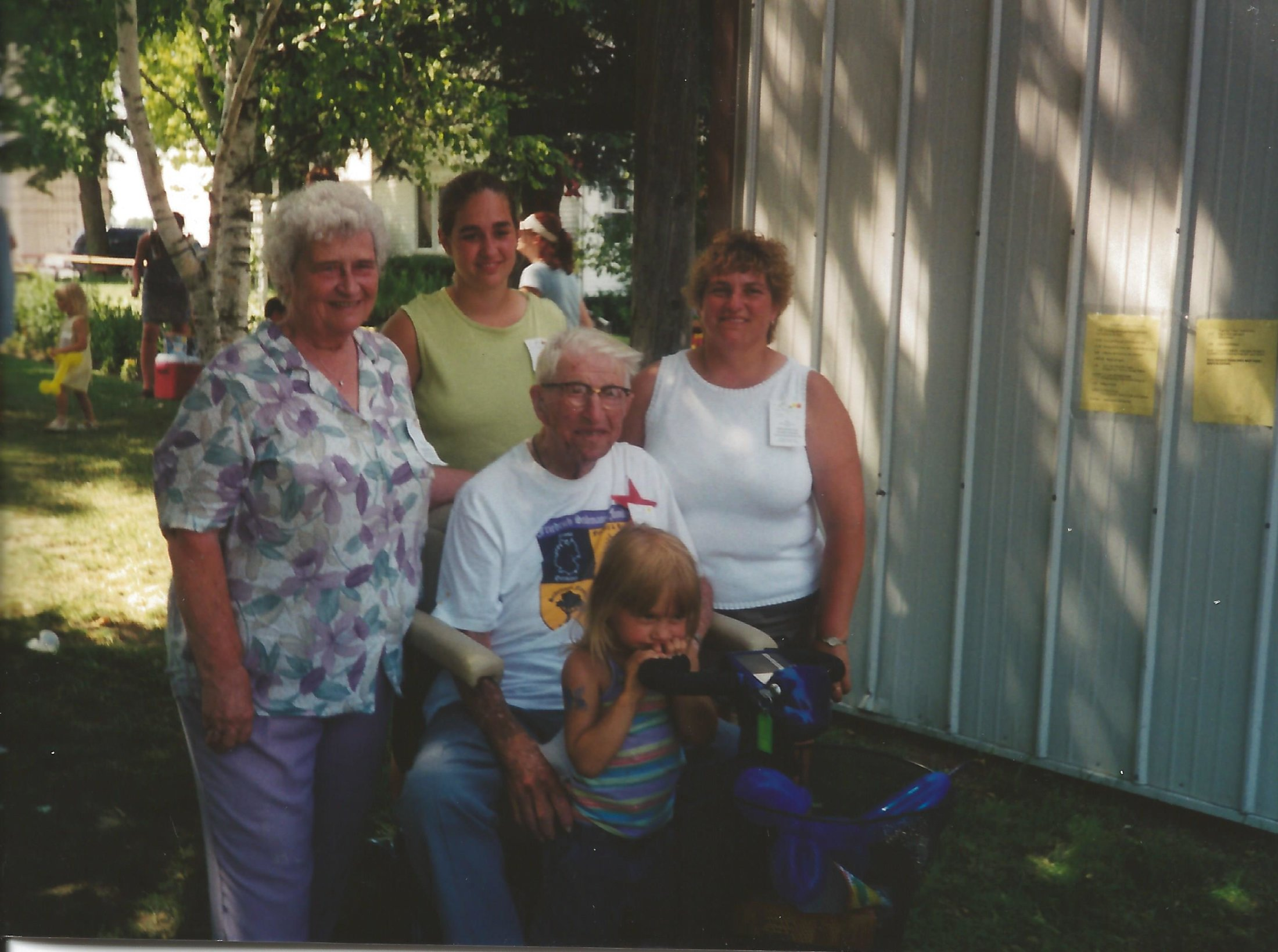Five generation Picture - Marion, Yvonne, Cindy, Ray, and Taylor