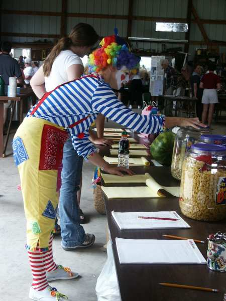 And The Clown Registering At The Guessing Games
