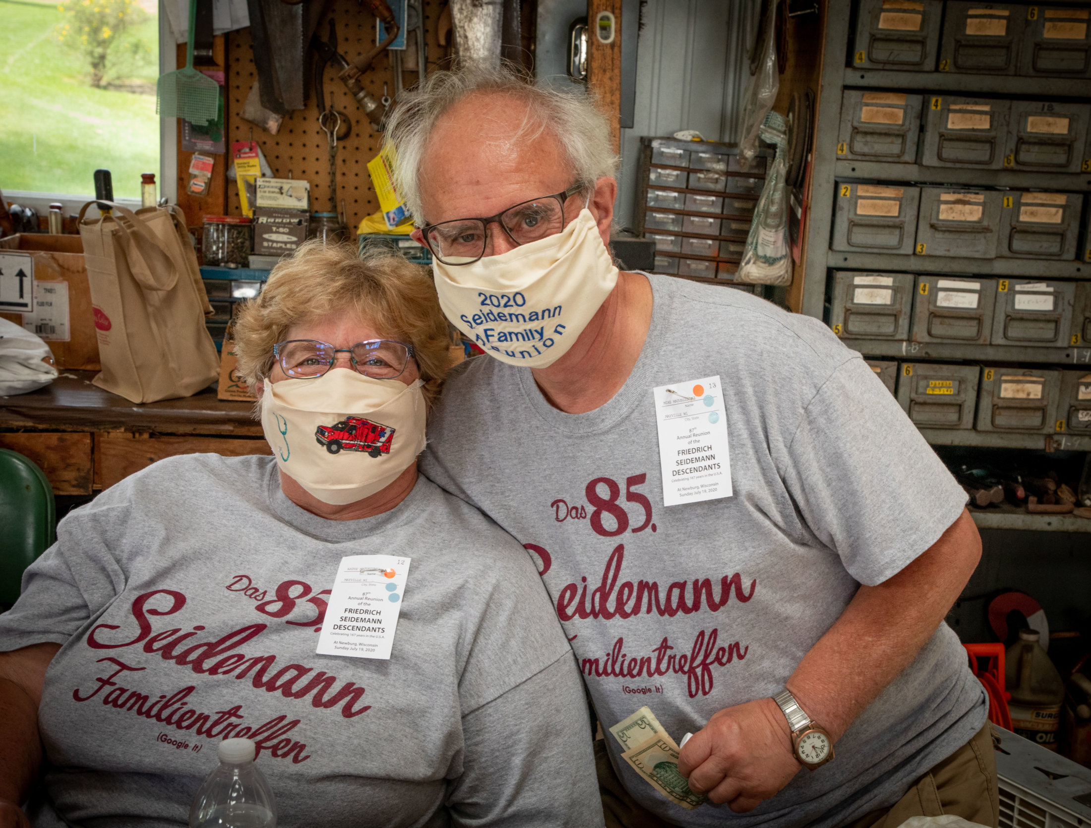 Talented Mask creator and her husband