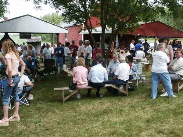 Brat & Beer Stand Crowd