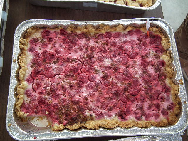Raspberry Kuchen made by Audrey / Bought by Kenneth