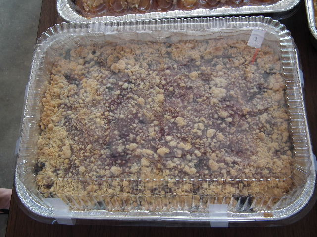 3rd Place Winner - Blueberry Crunch Kuchen made by Lou / Bought by Kenneth