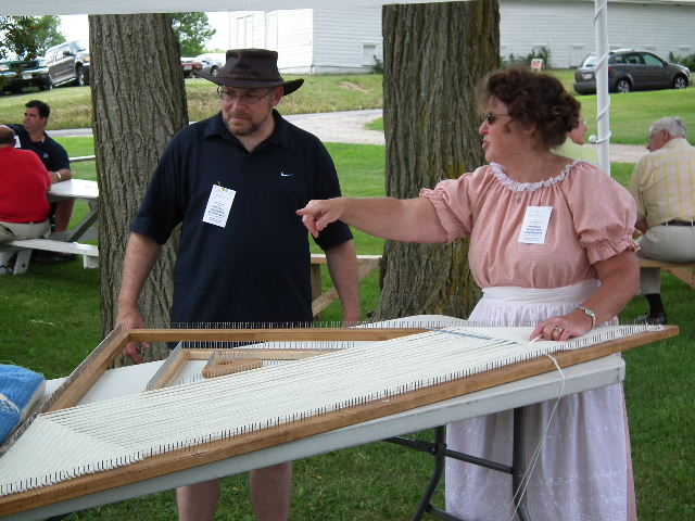 Demonstrating the Triangle Loom