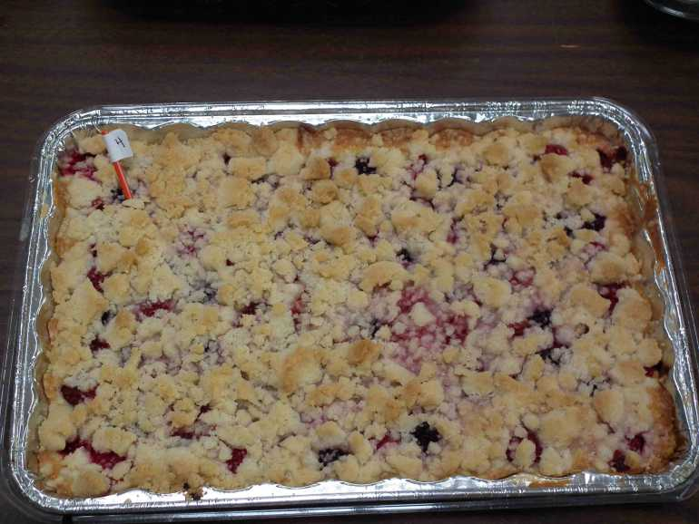 2nd Place Winner - Triple Berry Kuchen made by Nikky & Alexis / Bought by Steve N