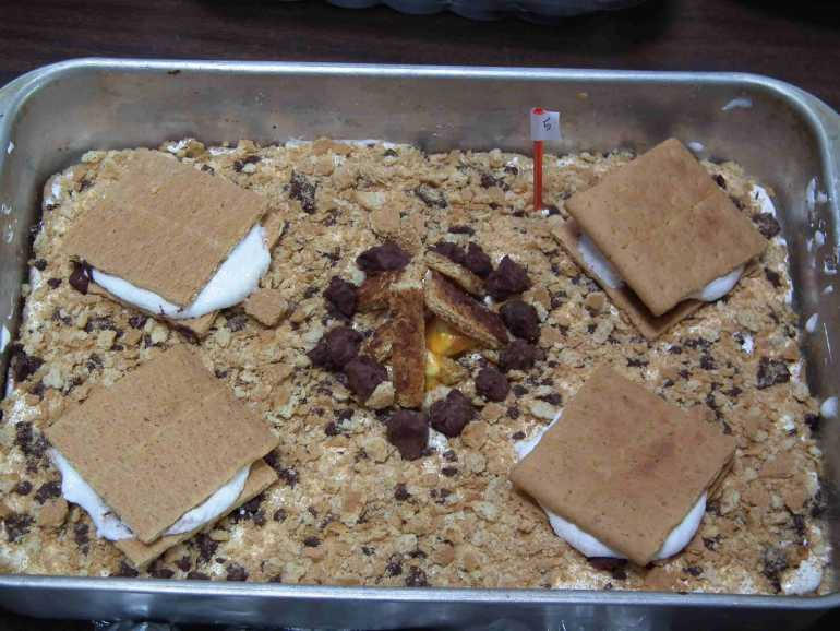 Campfire S'Mores Kuchen made by Ana & Amelia / Bought by Bonnie