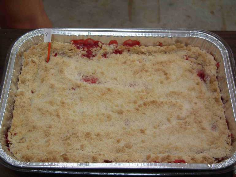 Rhubarb Kuchen made by Andrea / Bought by Sandra
