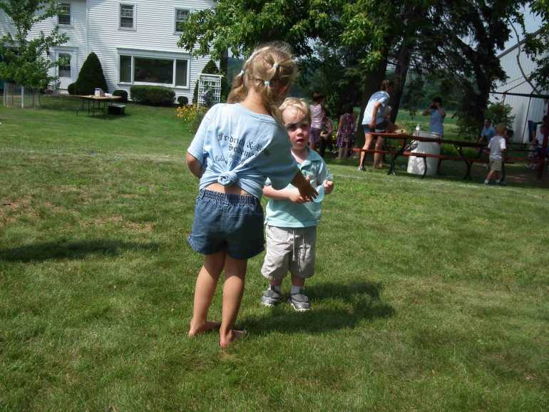 Water Balloon Toss - Alexis and Will